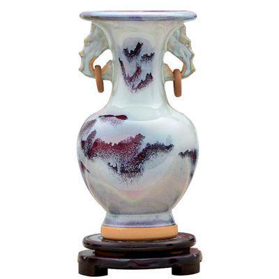 陶瓷工艺品花瓶家居饰品客厅酒柜装饰品摆设钧瓷花瓶摆件创意礼品