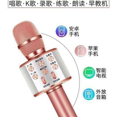 变音版蓝牙无线麦克风WS858唱吧全民K歌家庭KTV音响一体唱歌练歌