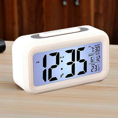 闹钟学生时钟简约时尚静音创意电子钟床头儿童多功能电子闹钟夜光