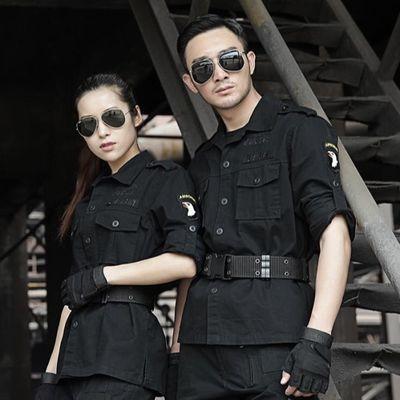 纯棉军迷服饰户外101空降师套装男长袖迷彩服特种兵作训服工作服