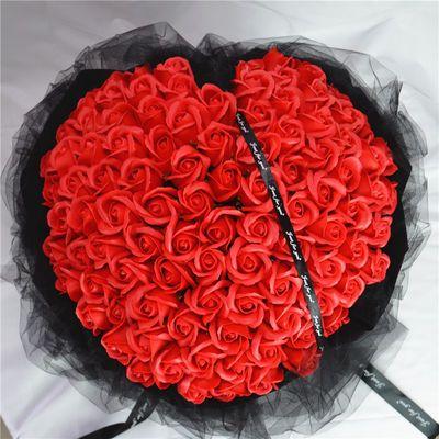 99朵玫瑰花束七夕情人节生日礼物女生送老婆女友浪漫创意走心礼品【3月10日发完】