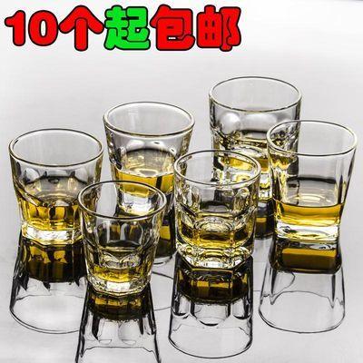 钢化八角杯玻璃杯啤酒杯白酒洋酒杯威士忌四方杯6角杯KTV酒吧包邮