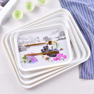 长方形密胺托盘欧式家用水杯茶盘托盘餐具盘水果盘蛋糕盘用餐盘【3月15日发完】