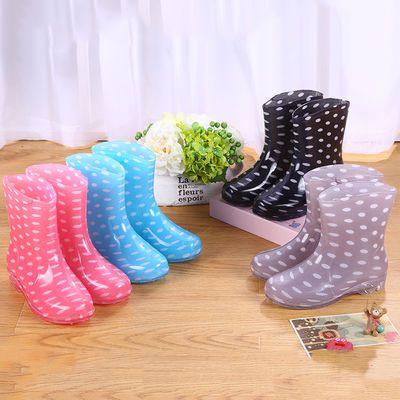 下雨靴雨鞋防水鞋胶鞋水靴套鞋女成人厨房工作防滑时尚韩版短筒夏