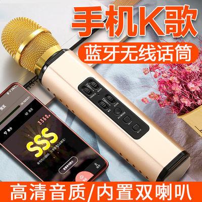 【双喇叭】蓝牙无线话筒音响麦克风家庭ktv带声卡手机全民K歌神器