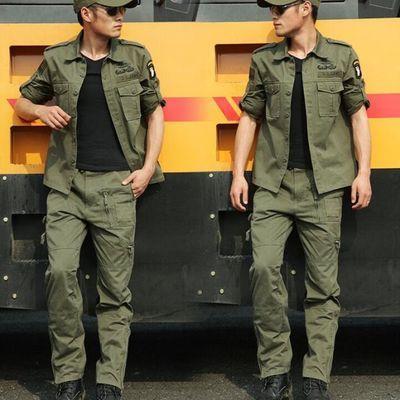 盾郎101空降师迷彩服套装男加厚工作套装户外特种兵纯棉作训服装