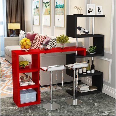 吧台桌家用简约现代酒柜客厅小吧台创意靠墙庭餐桌转角简易隔断柜