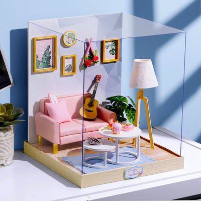 diy小屋可爱少女心公主房娃娃屋创意别墅手工拼装玩具生日礼物女