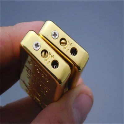 超薄精美金砖金条打火机创意金块气体充气个性火石砂轮打火机
