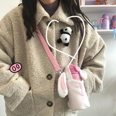 熊猫胸针趴趴熊日系卡通派大星毛绒可爱公仔别针少女衣服书包挂件