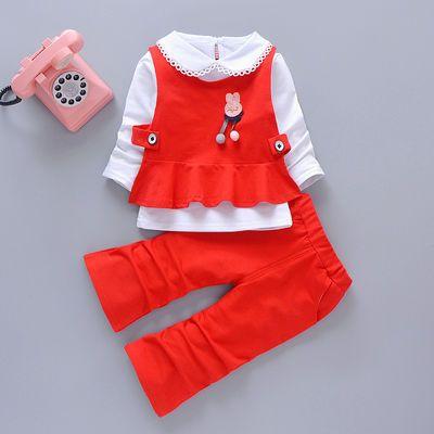 衣服童装三件套洋气春装婴儿女宝宝儿童小童女童韩版童装女秋天
