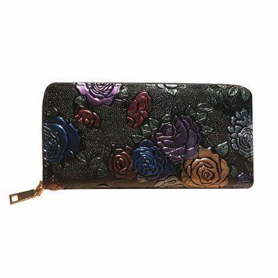 女长款钱包休闲百搭钱夹时尚女士手包新款手拿包压花气质女手抓包