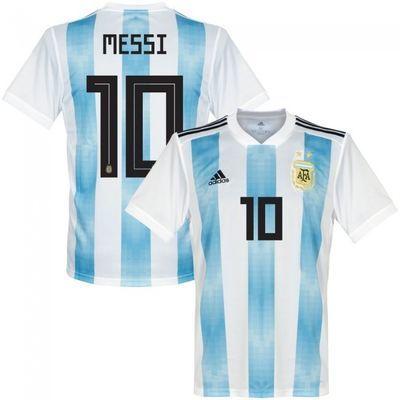 【泰版送球袜】阿根廷球衣10号梅西2018世界杯阿根廷足球队服印号