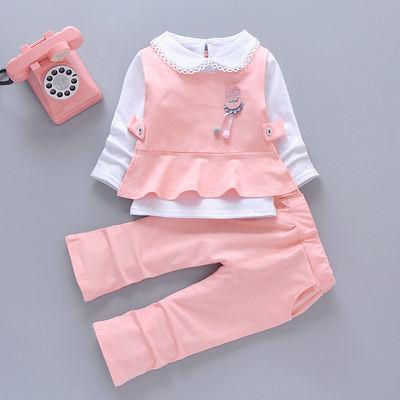 女童三件套 洋气1岁2岁3童装儿童秋天婴儿衣服小童春装女宝宝套装
