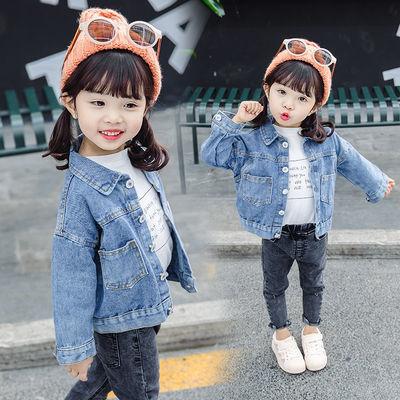 女童牛仔外套春秋装韩版1-5岁宝宝超洋气夹克3小童休闲开衫外出服
