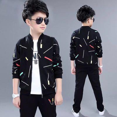 男童三件套童装男童春装套装儿童春秋季小男孩秋装中大童秋款外套