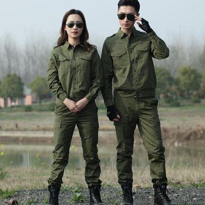 户外迷彩服夏季纯棉军迷服装男 长短袖101空降师军绿套装军装耐磨