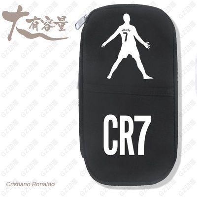 足球欧冠世界笔袋杯皇马巴萨梅西C罗内马尔穆勒球星Q版笔袋文具盒