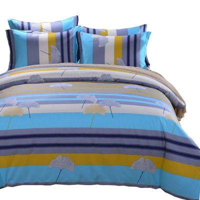 全棉四件套加厚纯棉4件套斜纹双人床单被套1.5m1.8米2米床上用品