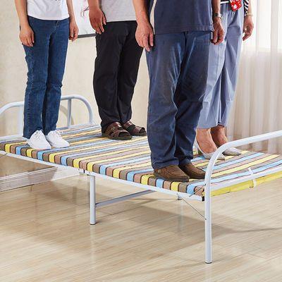 折叠床简易单人床双人床家用1.2米1.5午休小床铁出租屋可儿童成人