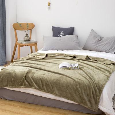 纯色毛毯单人夏季空调毯珊瑚绒毯子法兰绒学生宿舍被子双人床单