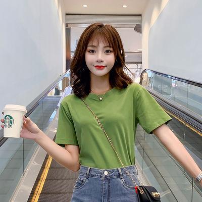 牛油果绿t恤 纯棉宽松短袖