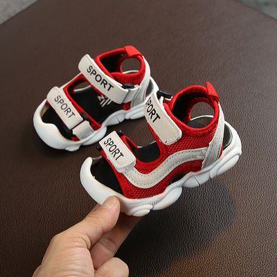 0-1-2-3岁宝宝凉鞋透气软底防滑男童婴儿学步鞋幼儿机能沙滩鞋网