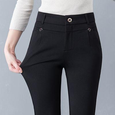 薄款女士休闲裤九分裤女中年妈妈裤子夏宽松百搭直筒黑色西装裤夏