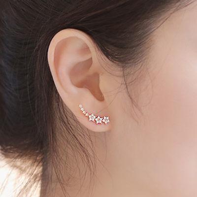 【一对价】韩国耳排连体耳环五角星耳钉星星耳钉气质防过敏耳钉女