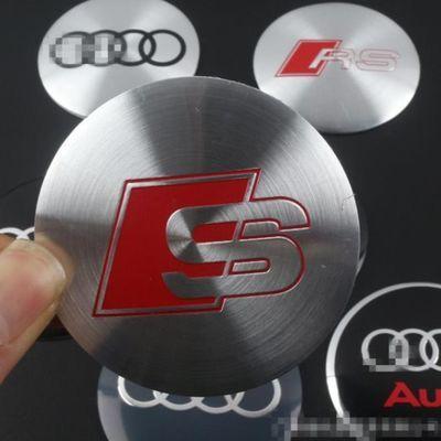 适用于奥迪A4L A6L A3 A5 Q3 Q5 Q7汽车轮毂盖贴标中心盖改装饰贴