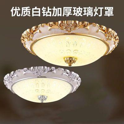 LED吸顶灯欧式卧室灯圆形客厅灯美式灯具走廊灯过道阳台儿童灯饰