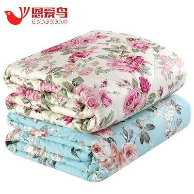 100%里外全棉夏凉被可水洗棉花薄被子夏季春秋单双人纯棉空调被芯