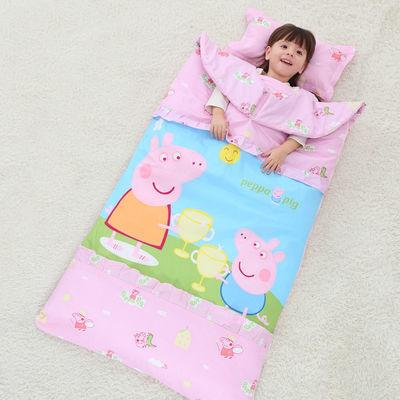 儿童睡袋婴儿春夏秋款加厚纯棉四季通用被子中大童宝宝防踢被薄款【3月10日发完】