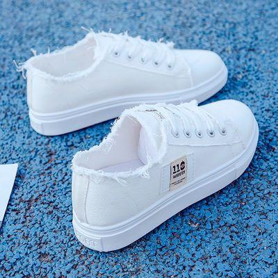 54661/帆布鞋女小白鞋2021夏季新款鞋子学生韩版百搭运动鞋ins平底板鞋