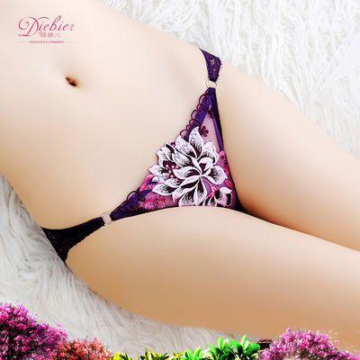 【4条\2条】性感蕾丝内裤女棉质底裆女士内裤超薄火辣三角裤女