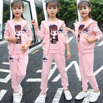 A童装女童秋装2019新款套装春秋儿童小女孩时髦衣服洋气两三件套