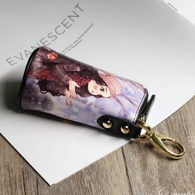 可爱韩国钥匙包女士大容量多功能汽车钥匙包卡通零钱包高尔夫匙包
