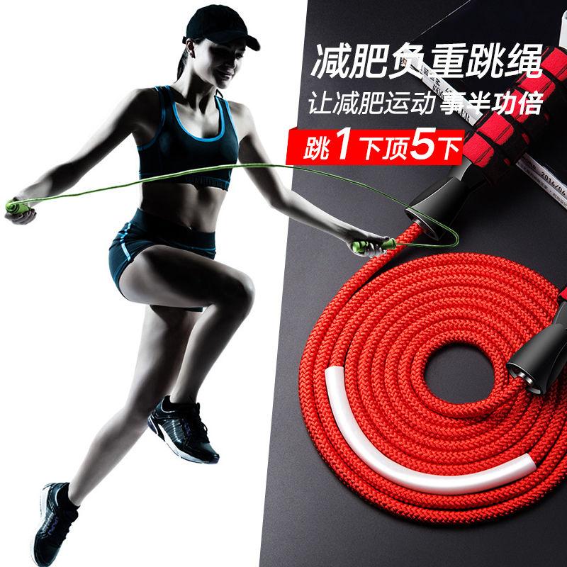 健身减肥器材运动女性燃脂跳绳男成人专用小学生专业中考钢丝负重的细节图片3