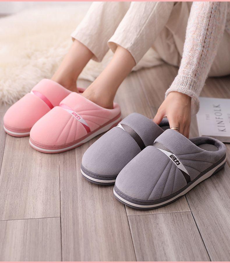 居家棉鞋回力秋冬季情侶棉拖鞋女家居室內家用保暖毛毛拖鞋男士棉拖鞋防滑