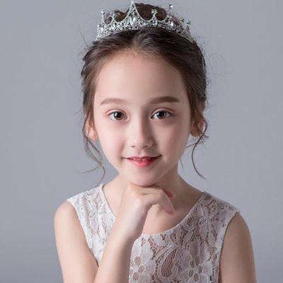 水钻皇冠头饰儿童女童韩国公主王冠水晶发饰潮演出花童礼服饰品小