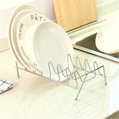 水架子收纳架晾碟架盘子沥碟置物架单层厨房不锈钢碗沥水架碗架