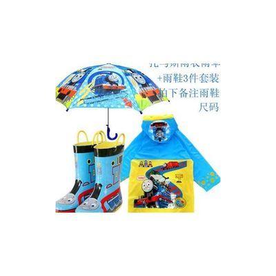 托马斯男童雨衣雨鞋套装儿童雨具男童雨伞雨鞋雨靴套装小男孩雨披
