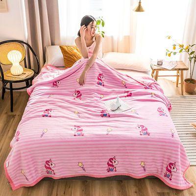 法莱绒毛毯加厚珊瑚绒毯子云貂绒单双人床单午睡空调盖毯学生1.5m