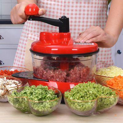 手动绞肉机家用手摇搅拌器饺子馅碎菜搅肉切菜神器厨房用品料理机