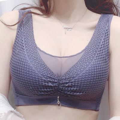 【90-200斤胖MM】大胸显小大码内衣女文胸无钢圈薄款抹胸聚拢胸罩