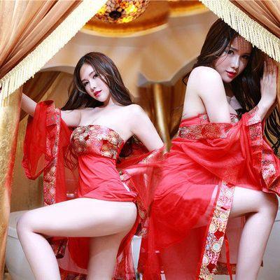 贵妃新娘装睡衣女古典肚兜情趣内衣性感制服刺绣乳贴大码套装睡裙