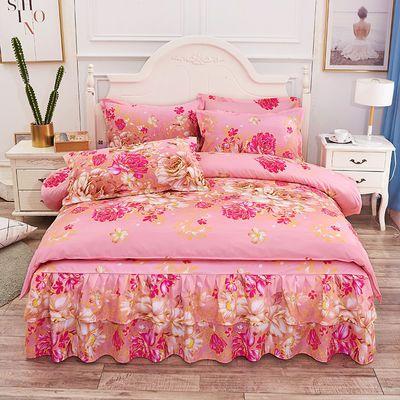 厂家直销 韩版公主风床裙四件套花边床罩式床单被套床上用品4件套【3月8日发完】
