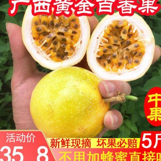 黄金百香果5斤装包邮黄皮白香果6新鲜广西酸甜黄色百香果孕妇水果_2