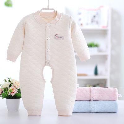 春秋婴儿服棉婴儿连体衣0-3-6宝宝衣服保暖内衣新生儿衣服套爬服