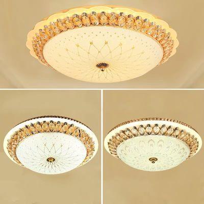 LED圆形吸顶灯欧式水晶灯客厅卧室灯具灯饰现代简约房间阳台过道